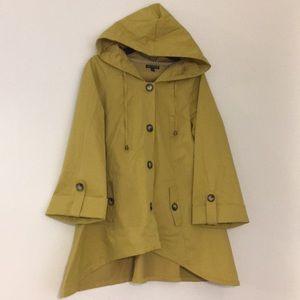 For Cynthia, mustard yellow drapes jacket, size L